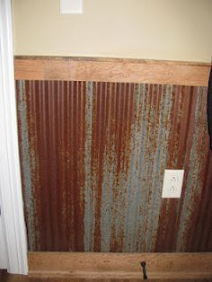 1000 images about wainscot on pinterest wainscoting for Metal wainscoting ideas