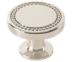 Carolyne Knob shown in Polished Nickel. Available in 3 finishes. Amerock