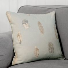 With Spring on the way, what better way to create a fresh new look than by restyling your room with our hugely popular Featherdown fabric in a beautiful new colourway – Duck Egg Blue. Pastel Interior, Interior Ideas, Duck Egg Blue, Soft Furnishings, New Look, Neutral, Powder, Cushions, Throw Pillows