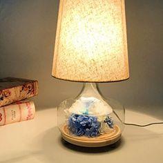 Bedside Desk Lamp Adjustable Table Lamp Preserved Flowers Lamps Bedside Desk Light Home Floor Cafe Vase Bedroom Wedding Decor(blue) Lamp, Flooring, Floor Lamp Dimmer, Cool Floor Lamps, Adjustable Floor Lamp, Desk Light, Touch Lamp, Bedside Desk Lamps, Bedroom Lamps