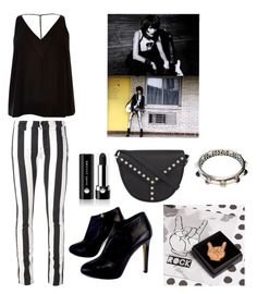 """""""long live rock and roll"""" by ena07-dlxx ❤ liked on Polyvore featuring Off-White, Marc Jacobs, River Island, Giuseppe Zanotti and Yves Saint Laurent"""
