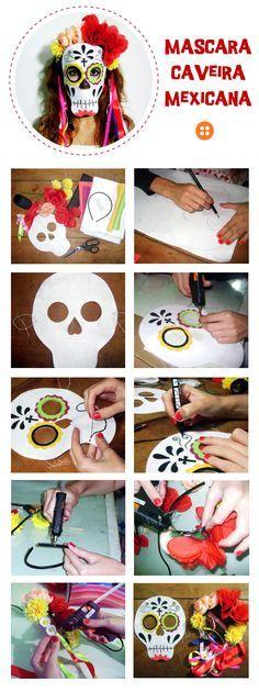 Una máscara de cátrina puede ser un excelente y práctico disfraz para esta fiestas de miedo.