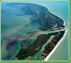 Sanibel to the north and Captive in the south.  Blind Pass separates the two island and due to the currents is a great place for shelling at low tide.