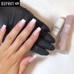 Short Square Acrylic Nails, Fall Acrylic Nails, Acrylic Nail Designs, Pastel Pink Nails, Purple Nails, Beauty Hacks Nails, Nail Art Hacks, Elegant Nails, Classy Nails