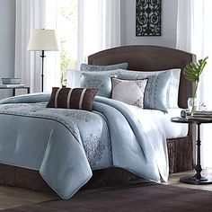 With the look of fine silk, the beautiful Brussel bedding adds an air of elegance to your room. The intricately embroidered details add to the luxurious look and feel.