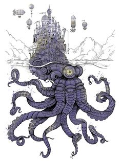 "apolonisaphrodisia: ""The Iron Octopus by Malo ""maloandthewhale"" Tocquer """