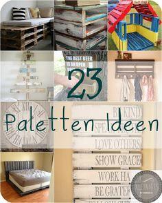 Paletten Ideen zum Selbermachen, Do it yourself, Euro Paletten, Einwegpaletten, Regal, Garderobe, Uhr, Bett, Schilder, Lounge, Tisch, Weihnachtsbaum