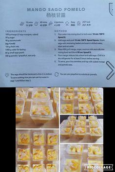 Mango Sago Pomelo Thermomix Desserts, Dessert Recipes, Mango Sago, Gelato Ice Cream, Old Fashioned Recipes, Fresh Milk, Dim Sum, Chinese Food, Deserts