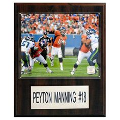 C and I Collectables NFL 15W x 12H in. Peyton Manning Denver Broncos Player Plaque - 1215PMANNBRONCH