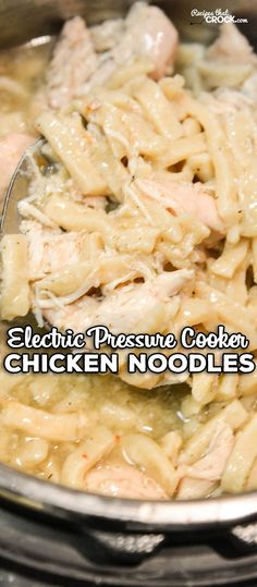 Are you looking for a great Instant Pot recipe for Chicken Noodles? Our Electric Pressure Cooker Chicken Noodles Recipe is so easy to throw together and has that old fashioned comfort food flavor ready in minutes!