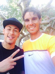 Rafa Nadal 22 April ·     Un placer recibir la visita de un grande tras mi debut en #Barcelona! Gracias x el apoyo Neymar Jr.  A pleasure to see a good friend after my debut in #Barcelona! Thanks for your support Neymar Jr.