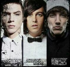 Andy Biersack, Kellin Quinn, and Oli Sykes :)<3