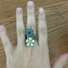 Lucky Brand flower ring Colorful and fun Lucky Brand ring Lucky Brand Jewelry Rings