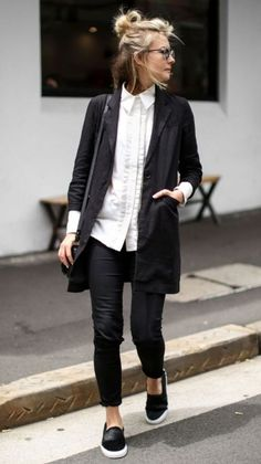 e6d6cdf534d0 65 Comfy Office Fall Outfits and Leather Jacket Ideas. Comfy Work OutfitComfy  ...