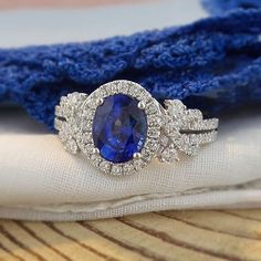 Stunning Ceylon sapphire in a contemporary 18K white gold setting.  Perfect for an engagement or simply to add some style and sophistication to any wardrobe.  www.zomacolor.com