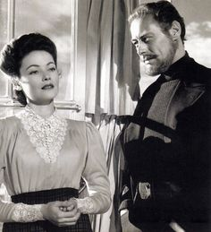 Gene Tierney and Rex Harrison in The Ghost and Mrs. Muir [1947] My favorite, love the old movies