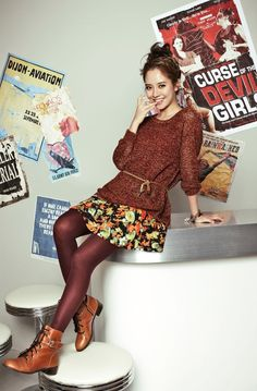 """Punk Girl"" is YESSE's Fall 2013 Campaign title, and Song Ji Hyo makes a bold fashion statement for the brand's catalogue, combining prints with vibrant solids. Asian Fashion, Love Fashion, Fashion Beauty, Girl Fashion, Autumn Fashion, Fashion Outfits, Casual Outfits, Cute Outfits, Korean Celebrities"