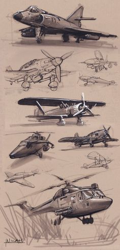 Airplanes and Helicopter Sketches on Behance Airplane Sketch, Airplane Drawing, Airplane Design, Airplane Art, Cool Sketches, Drawing Sketches, Art Drawings, Fox Tattoo Design, Nature Sketch
