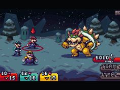 """I did a mock-up for fun, showcasing how I'd approach a new Mario RPG game. There'd be Bro combination attacks similar to the Mario and Luigi games, but you'd be able to do """"tri-attacks"""" with Wario..."""