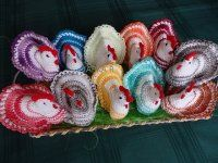 NÁVODY HÁČKOVÁNÍ Easter, Christmas Ornaments, Holiday Decor, Crochet, Eggs, Egg, Christmas Ornament, Knit Crochet, Crocheting