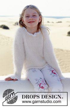 Children - Free knitting patterns and crochet patterns by DROPS Design Baby Knitting Patterns, Knitting For Kids, Free Knitting, Drops Design, Crochet Baby, Knit Crochet, Girls Sweaters, Free Pattern, Barn