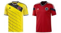 Colombia's T shirts for 2014 FIFA World Cup - Brazil