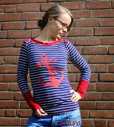 mialuna: maritimes Lady Mariella Shirt