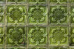 Portuguese tiles - 14 Handmade tiles can be colour coordinated and customized re. shape, texture, pattern, etc. by ceramic design studios Tile Art, Mosaic Art, Mosaic Tiles, Wall Tiles, Tile Patterns, Textures Patterns, Art Nouveau, Tile Design, Ceramic Design
