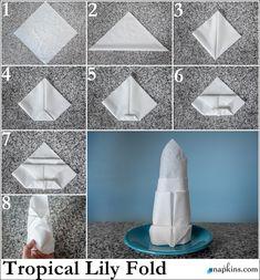 Tropical Lily Napkin Fold