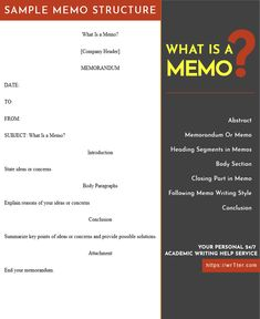 Many students want to find answers to questions of what is a memo. In this case, learners need to understand how to be effective in communication with