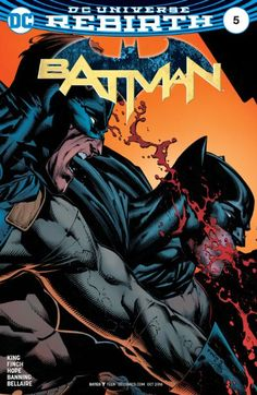 The cover to Batman #5 (2016), art by David Finch, Danny Miki, & Jordie Bellaire