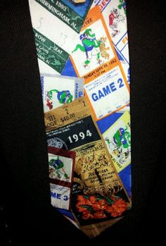 Florida Gators Football Silk Tie Vintage 93-94 Season Tickets