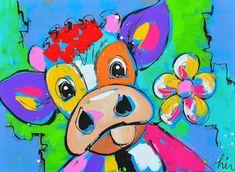 Veldbloemen koe