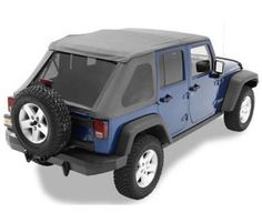Bestop - Bestop TrekTop NX Replacement Top Black Diamond Soft Top 56820-15 - Fits 2007 to 2016 Wrangler Unlimited and Rubicon Unlimited - 4WheelParts.com