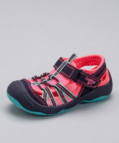 Another great find on #zulily! Pink & Navy Motion Sport Sandal - Toddler & Girls by OshKosh Bgosh #zulilyfinds