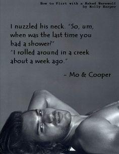 flirt with naked werewolf