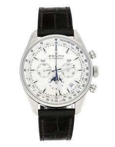 Watchmaster.com - Zenith El Primero 03.2091.410/01.C494 Men's Watches, Luxury Watches, Cool Watches, Watches For Men, Watch Companies, Men's Apparel, Steel, Silver