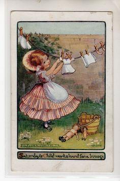 Flora White postcard - Saturday's Child
