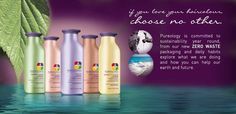 Pureology is a 100% Vegan line, highly concentrated, smells amazing and is devoted to a zero waste packaging system! Once you use these products you'll never turn back!