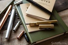 The Fountain K is a compact, machined fountain pen that comes in aluminum, brass, and copper. This particular model is made of raw copper that will patina over time, with a matching copper grip section. The grip section and nib unit will be shipped in separate packaging from the pen body/cap for you to assemble yourself.<br>