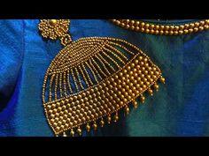 Jhumka Work Blouse Designs in Aari work | Maggam Work | Tambour Work | Kasab Work - YouTube