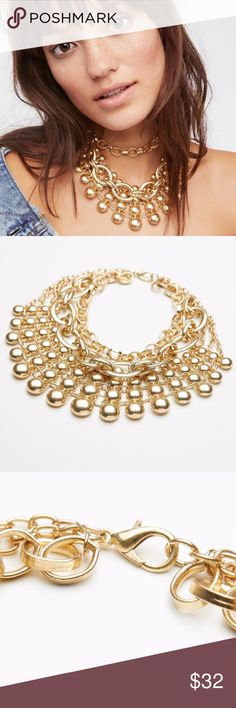 Free People Sunshine Collar Necklace- Gold Store overstock; New with tags; Free People Sunshine Collar Necklace- Gold Free People Jewelry Necklaces