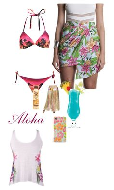 """""""Aloha"""" by duckdynasty ❤ liked on Polyvore featuring beauty, Miss Selfridge, Premonition and Hawaiian Tropic"""
