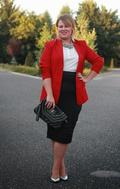 Plus Size Life: OUTFIT - Poppy red