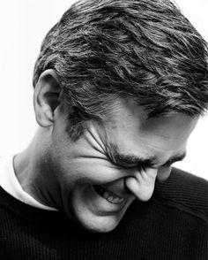 Clooney Laugh ~  Repinned via Lisa Warren