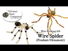 ▶ Wire Working 459 - Wire Spider Pendant or Ornament - YouTube free tutorial from The Potomac Bead Company http://www.potomacbeads.com  Buy Online: http://www.thebeadco.com