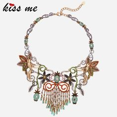Hyperbole Geometric Rhinestone Choker Necklace New  Jewelry Vintage Accessories That`s just superb!Visit our store --->  http://www.servjewelry.com/product/kiss-me-hyperbole-geometric-rhinestone-choker-necklace-new-brand-jewelry-vintage-accessories/ #shop