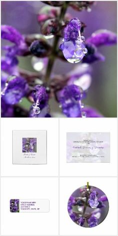 Purple Dew Join Us Floral Wedding Invitations by Janusian Gallery. #zazzlemade