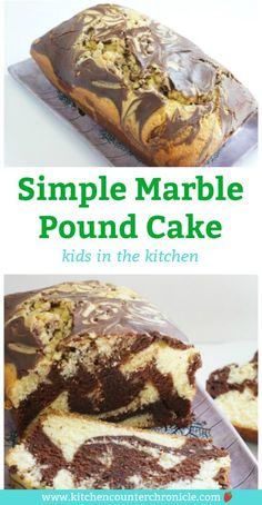 Chocolate or vanilla? You don't need to pick a favourite with this delicious recipe for chocolate marble pound cake - so simple the kids can help make it. Loaf Recipes, Pound Cake Recipes, Easy Cake Recipes, Best Dessert Recipes, Baking Recipes, Marble Pound Cakes, Marble Cake Recipes, Köstliche Desserts, Delicious Desserts