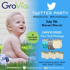 @GroViaDiaper #NewGroVia Twitter Party #clothdiapers #giveaway via @chgdiapers